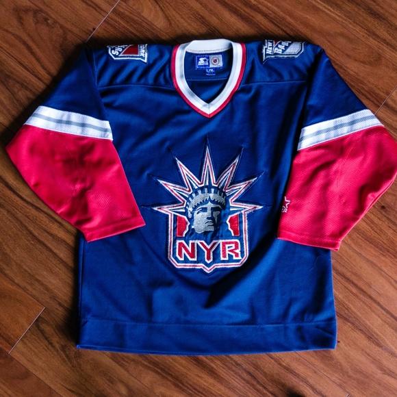 f723fe252 Vintage Starter NHL New York Rangers Jersey